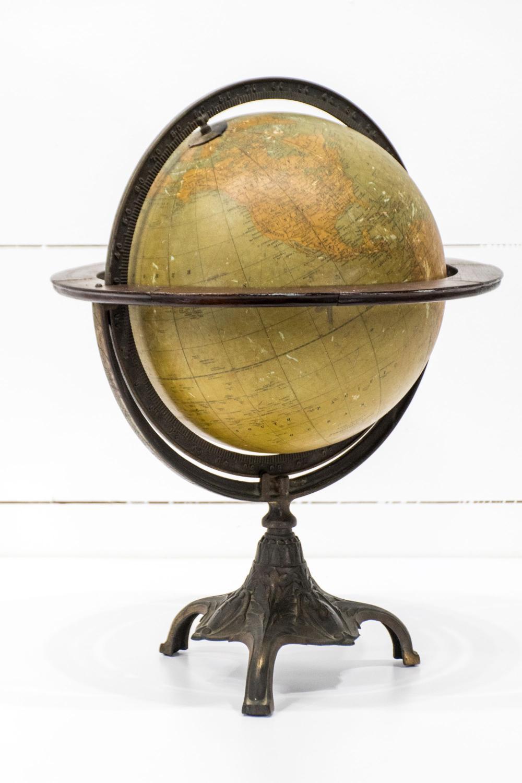 """Turn of the Century World Globe 21""""H, 16"""" diam."""