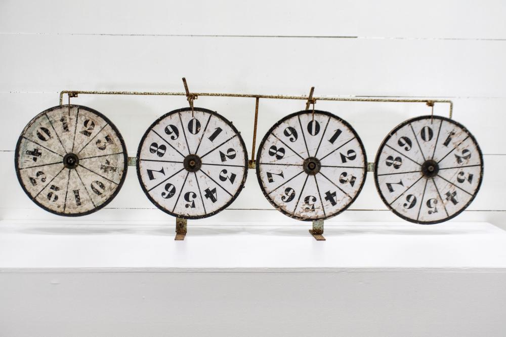"Folky Game Wheel 25 1/2""H, 82 1/2"" x 9"""