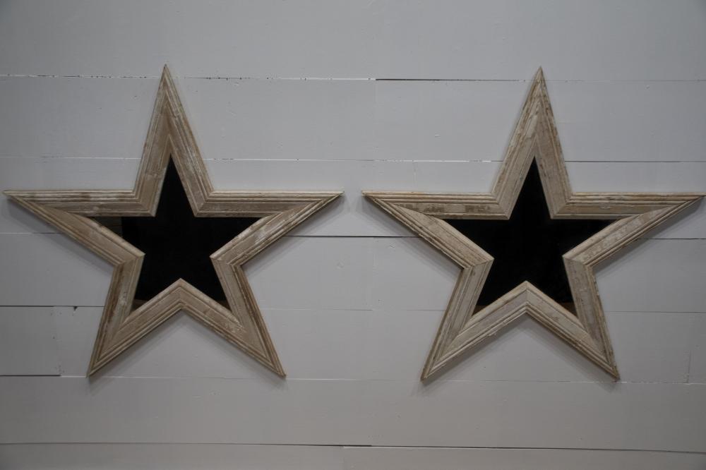 """Architectural Star Mirror X-2 47"""" x 49"""" ea."""