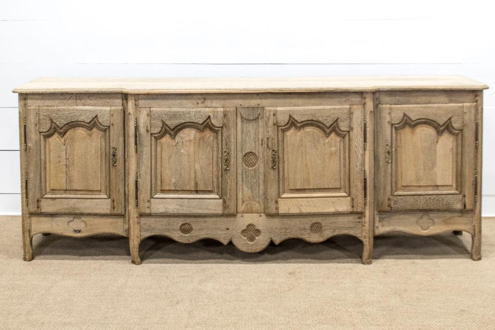 """19th C. French Bleached Server 38""""H, 102"""" x 21"""""""