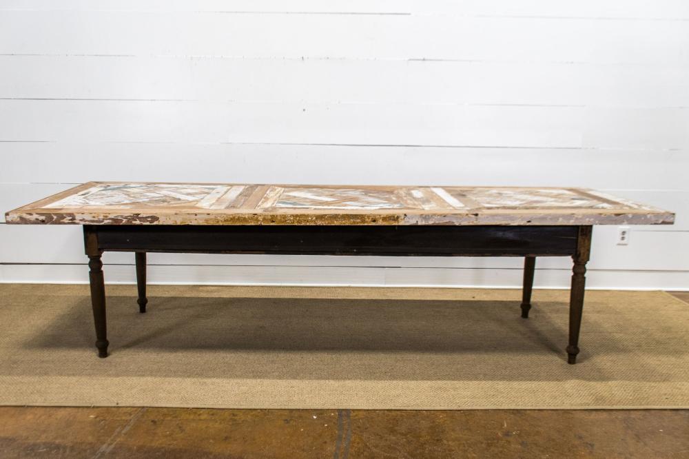 "Parquet Top Table 31 1/2""H, 120 1/2"" x 40"""