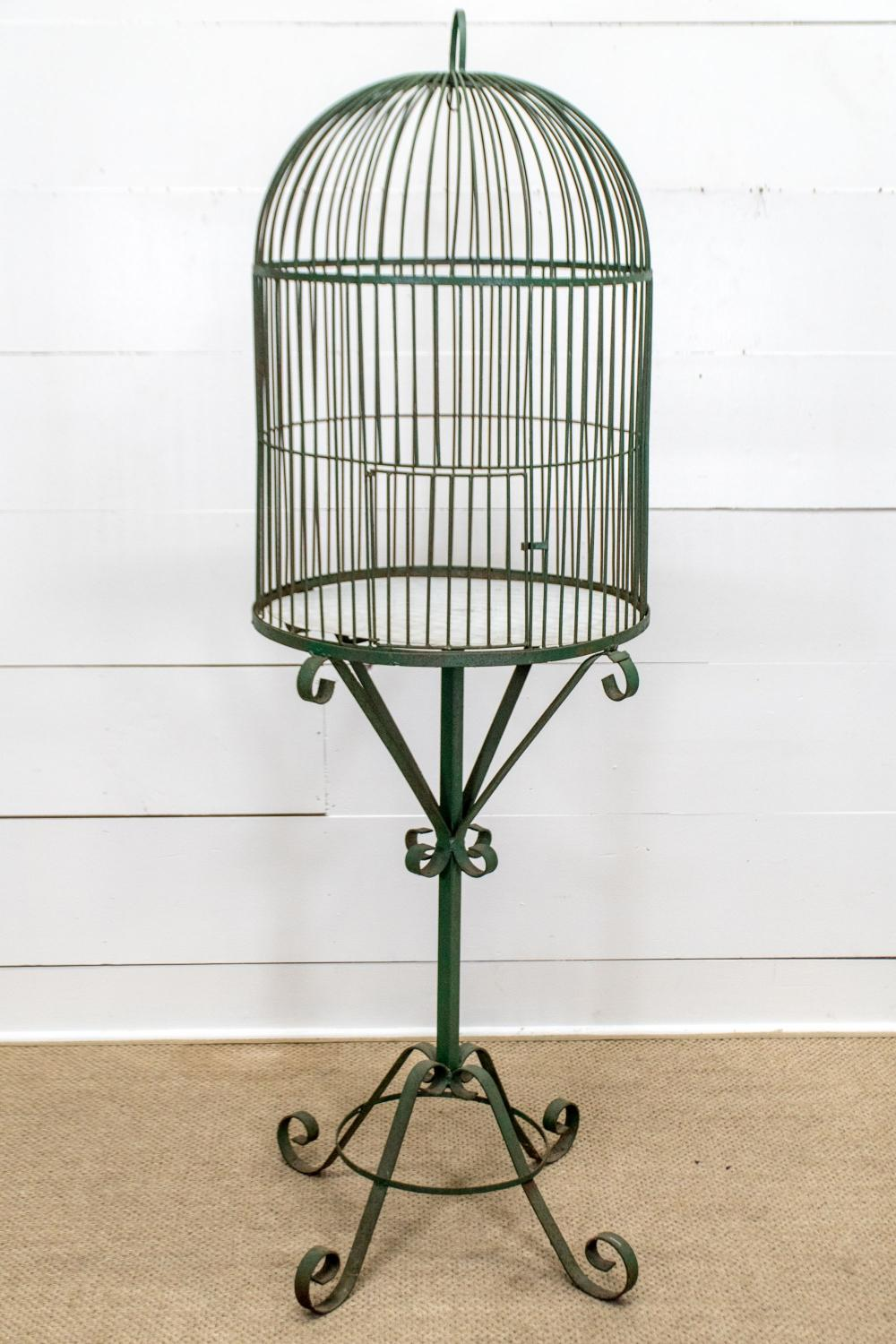 """Painted Birdcage 72""""H, 28"""" x 27"""""""