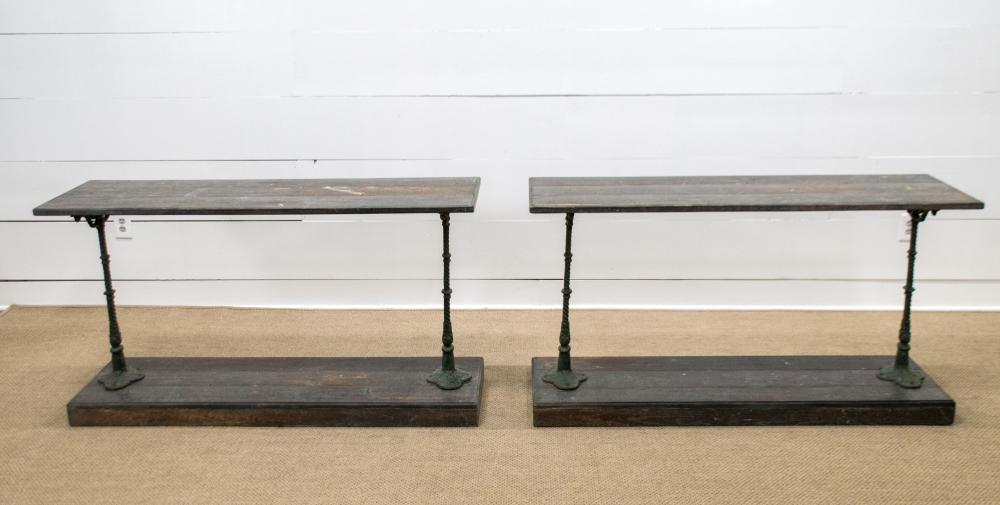 """French Painted Store Display Work Table X-2 32""""H, 58"""" x 18"""" ea."""