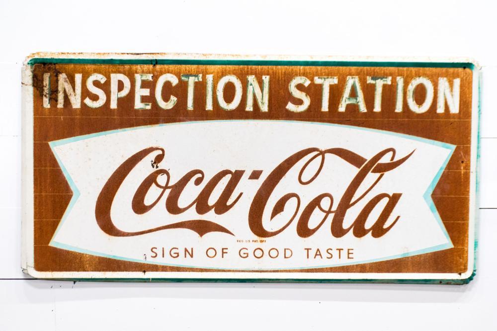 """Coca - Cola Sign - metal 36"""" x 72"""""""