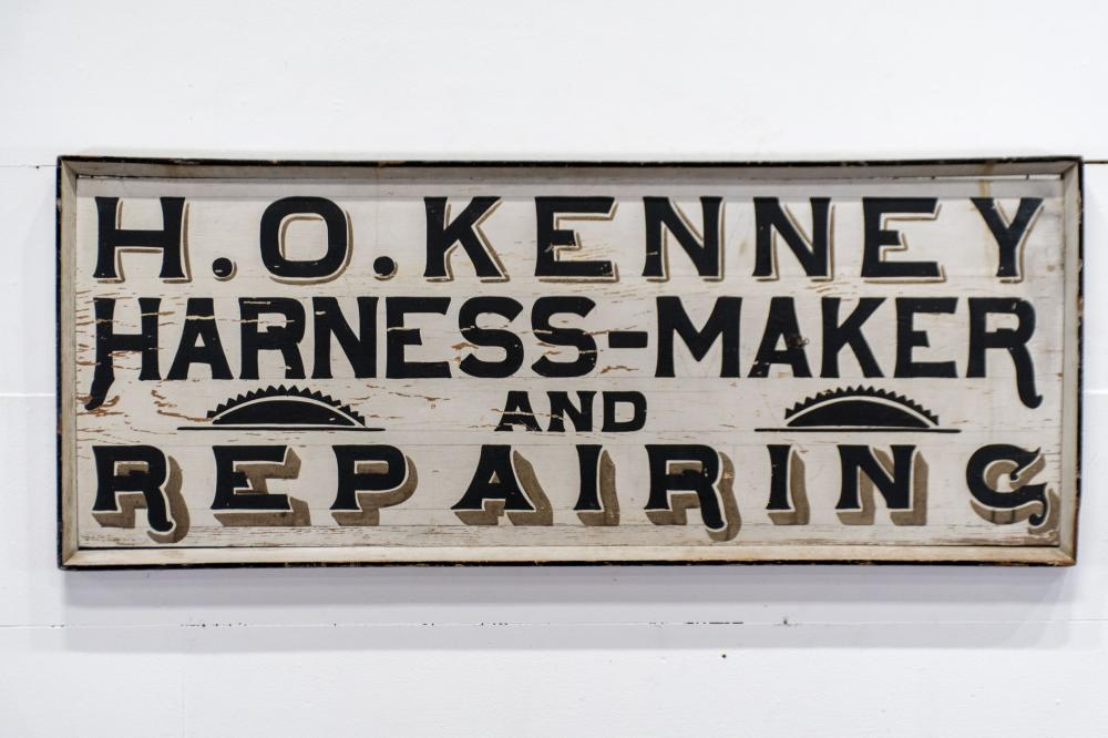 """Harness-Maker and Repairing Sign - wood 20"""" x 50"""""""