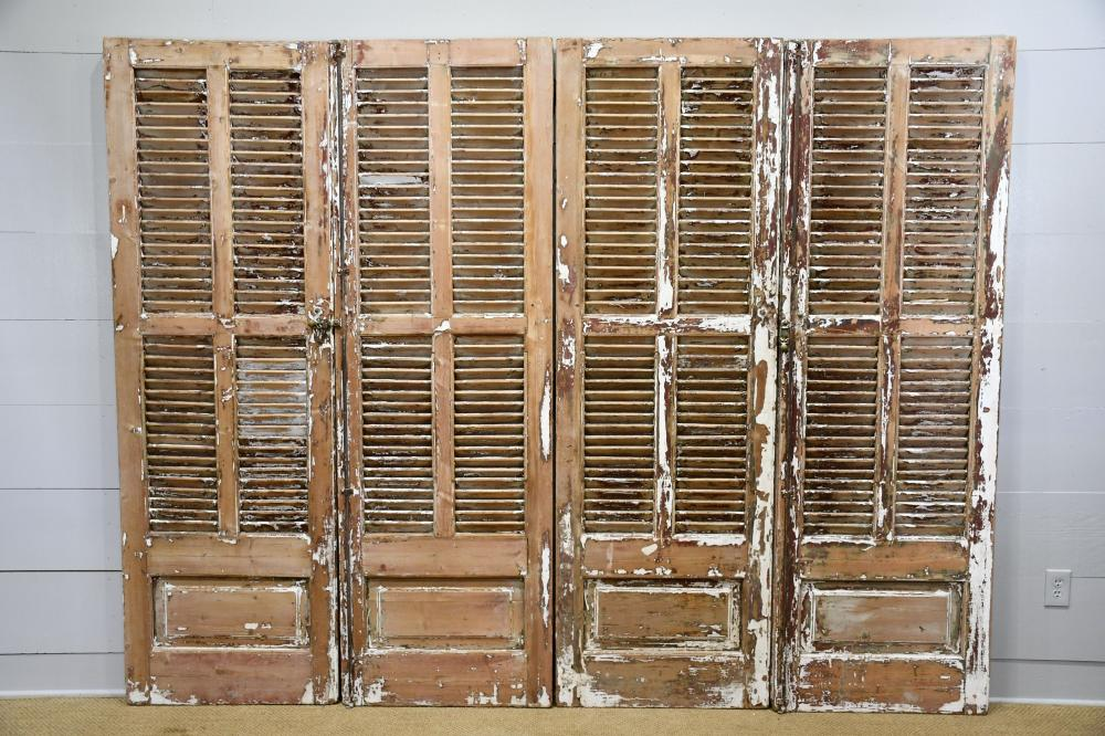 """French Painted Shutter X-4 86 1/2"""" x 28 1/2"""" ea."""