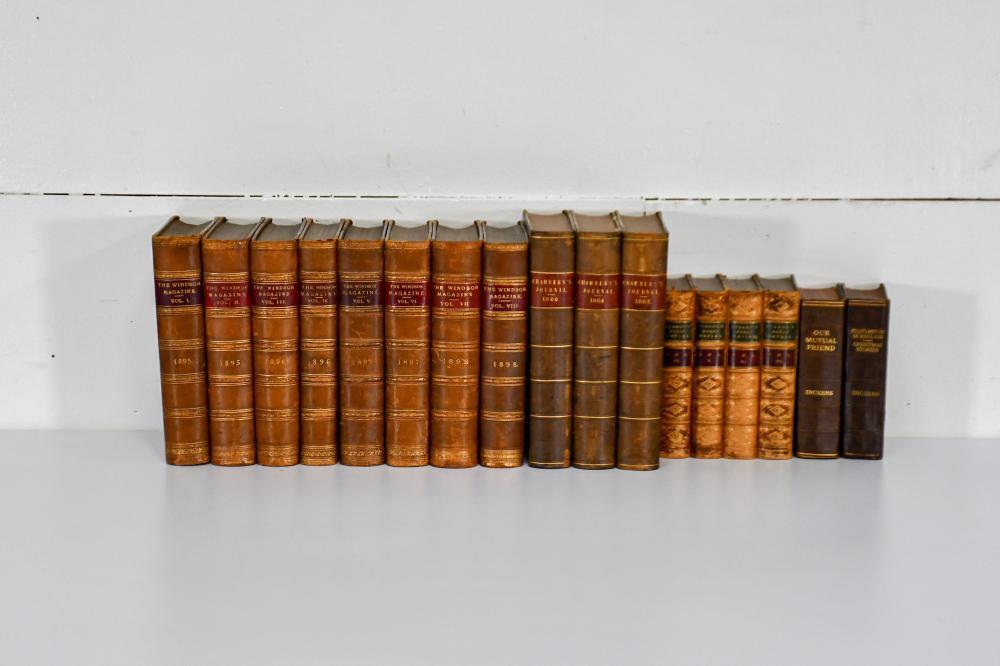 17pc. Lot of 19th C. Books