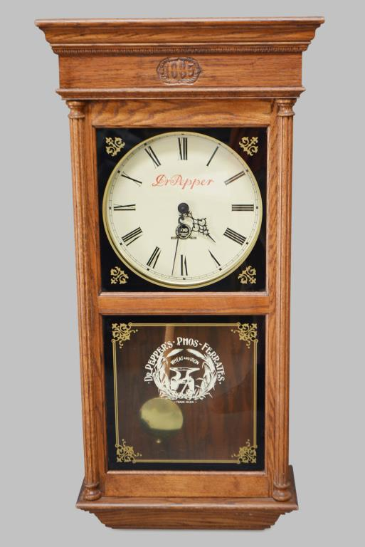dr pepper wall clock 39 1 2 h 19 x 8 1 2. Black Bedroom Furniture Sets. Home Design Ideas