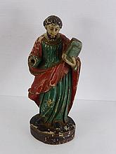 An Antique Goanese Wooden Carving (Portugese East