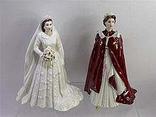 Royal Worcester Figurine of 'Her Majesty Queen Eli