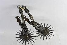 A Pair of 19th Century Steel Spanish Colonial Spur