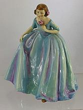 Royal Worcester Figurine, 'The Duchess's Dress' mo
