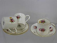 Royal Worcester Bone China Coffee Cans and Saucers