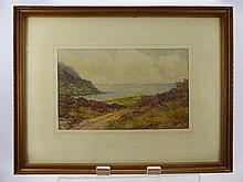 """Frank Bartlett, a water colour enitled """"Runswick"""", signed lower left, appr"""