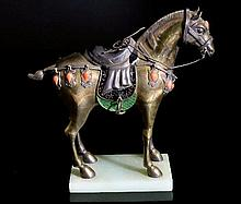 Chinese 20th Century Figure of a Horse, the silver
