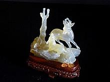 Chinese 20th Century Agate Figure of a Deer and
