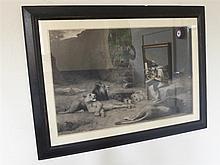 John M. Swan, Black and White Mezzo Print, the picture depicting mythologic