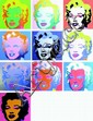 WARHOL Andy 1928-1987  LOT DE 10 sérigraphies en couleurs  Edition SUNDAY B.MORNING 1ère  Edition 91,5x91,5cm