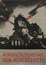SANDOR (Keil) Ek (Alex) 1902-1975 Second World War Poster with photo montage 35 x 25 cm