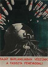 SANDOR (Keil) Ek (Alex) 1902-1975 Second World War Poster with photo montage 35 x 24,5 cm