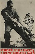 SANDOR (Keil) Ek (Alex) 1902-1975 Second World War Poster with photo montage Signed top right 38 x 25 cm