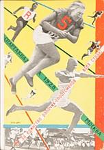 KLUCIS Gustav 1895-1938 Spartakiades Lot of 4 post cards for Spartakiades Photo montage, 1928