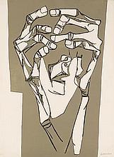 GUAYASAMIN  Oswaldo  1919-1999     Las manos del terror Gravure signée et justifiée HC au crayon par l'artiste, Poligrafa éditeur, Barcelone-