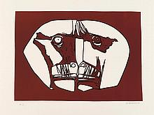 GUAYASAMIN  Oswaldo  1919-1999     Mascara 2 Gravure signée et justifiée HC au crayon par l'artiste, Poligrafa éditeur, Barcelone-
