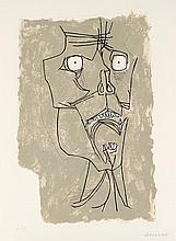 GUAYASAMIN  Oswaldo  1919-1999     El grito 2 Gravure signée et justifiée HC au crayon par l'artiste, Poligrafa éditeur, Barcelone-