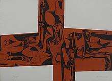 GUAYASAMIN  Oswaldo  1919-1999     Lidice 1 Gravure signée et numérotée /75 au crayon par l'artiste, 1973, Poligrafa éditeur, Barcelone-