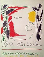 KURODA Aki 1944- Affiche lithographique Galerie Adrien Maeght-