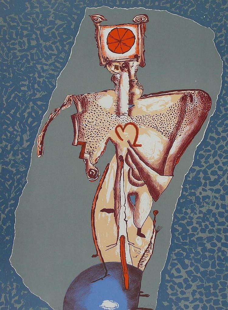BARTOLOZZI  Rafael 1943-2009     Sans titre, lithographie signée et justifiée HC /15 au crayon par l'artiste,  édition Poligrafa Barcelone-