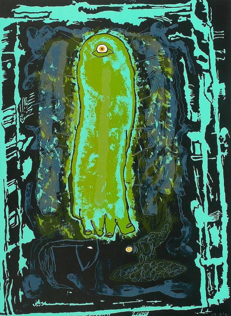 BARTOLOZZI  Rafael 1943-2009     Sans titre, lithographie signée et justifiée HC au crayon par l'artiste, éditeur Poligrafa Barcelone-
