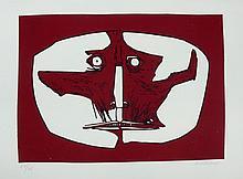 GUAYASAMIN  Oswaldo  1919-1999     Mascara 1 Gravure signée et numérotée /75 au crayon par l'artiste, 1973, Poligrafa éditeur, Barcelone-