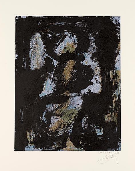 BOHARY  James 1940-     Ranger, lithographie signée et numérotée /75 au crayon par l'artiste, Poligrafa editeur, Barcelone-