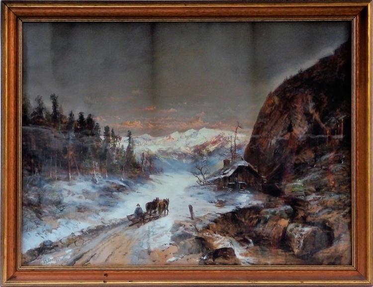 Continental School Bavarian Landscape Painting