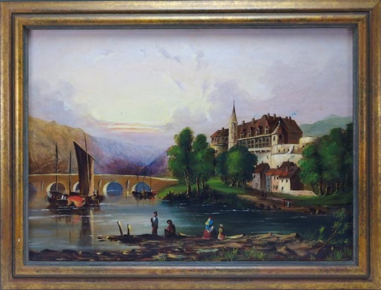 European Landscape Painting Sgd. E.V. Kennon