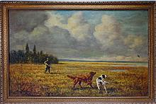 Gregory Hollyer O/C Sporting Duck Hunter Painting