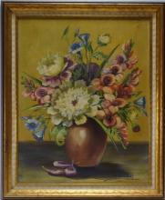 Janet Greenleaf Floral Still life Oil Painting