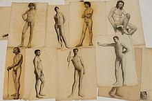 Robert H. Logan Collection of Nude Male Drawings