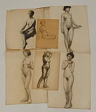 Robert H. Logan Collection of Nude Female Drawings