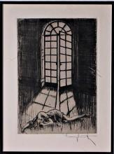 Louis Icart Palladium Doorway Copper Etching