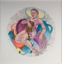 Guillaume Azoulay Zodiac Series Aquarius Etching