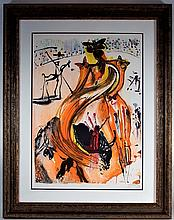 Salvadore Dali The Bull Fighter Lithograph