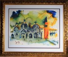 Salvadore Dali Venice Colored Lithograph