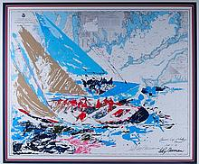 LeRoy Neiman America's Cup Serigraph