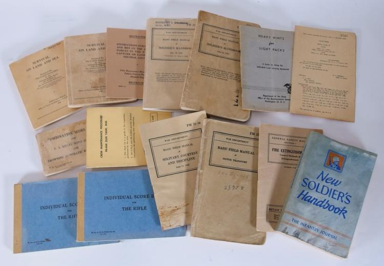 15 US WWII Survival Manuals & Other Manuals