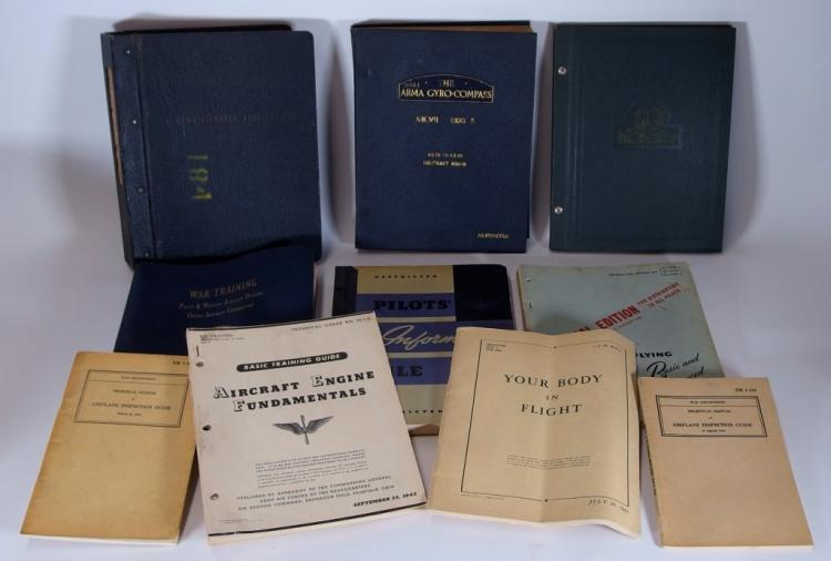 10 United States WWII Aviation Manuals