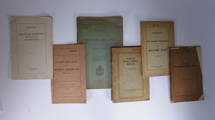 6 WWI Period Machine Gun Instruction Booklets
