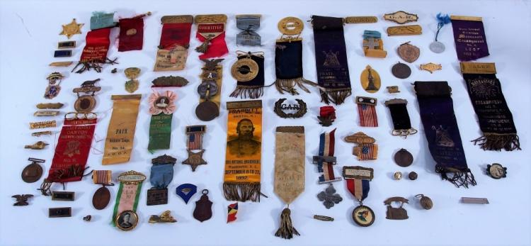 G.A.R Military Fraternal Medal and Pin Group